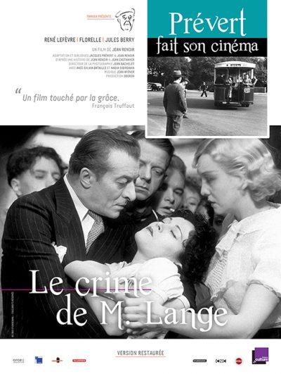 Affiche - Crime de Monsieur Lange (Le)